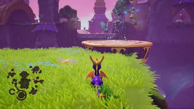Spyro the dragon - Castillo flotante: estatua de Mudada