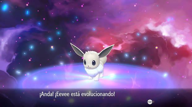 Eevee shiny en Pokémon Let's Go