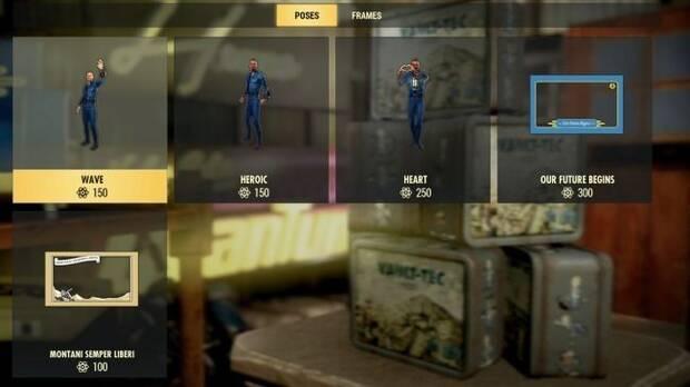 Estos son los artículos que podremos comprar con los Átomos de Fallout 76 Imagen 3