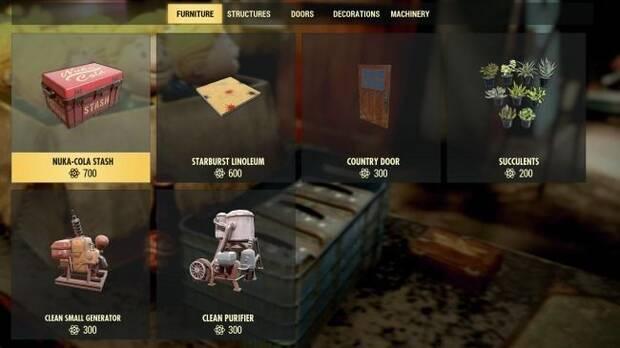 Estos son los artículos que podremos comprar con los Átomos de Fallout 76 Imagen 6