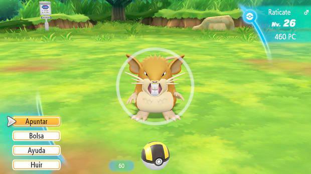 Ventajas de las rachas en Pokémon Let's Go