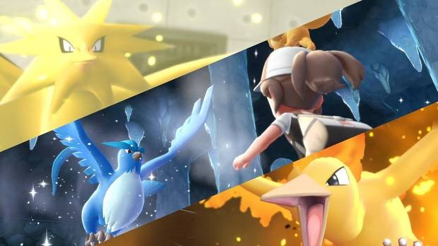 Pokémon legedanrios en Pokémon Let's Go