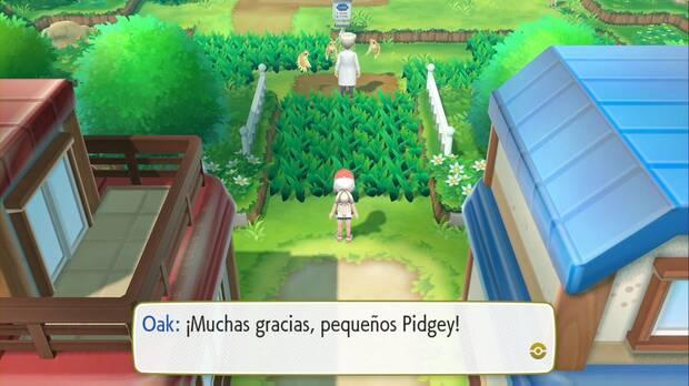 Pokémon Let's Go - Pueblo Paleta: el Profesor Oak y los Pidgeys