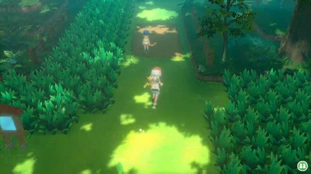 Pokémon let's go - Bosque verde: avanza por el este
