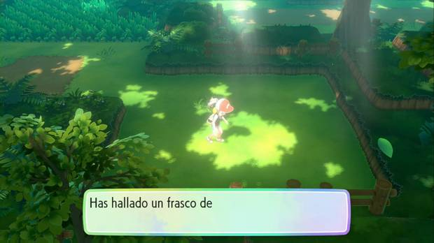 Pokémon let's go - Bosque verde: frasco de colonia