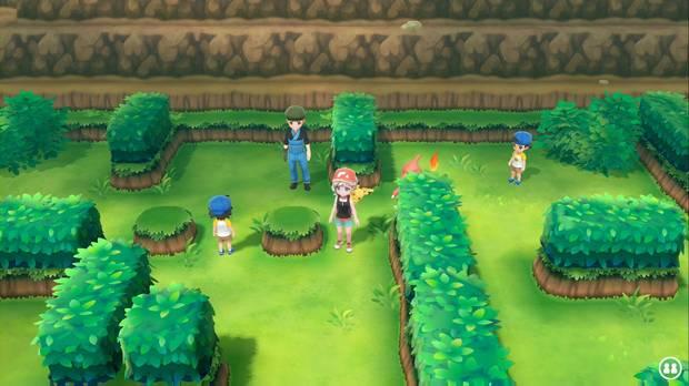 Pokémon Let's Go - Ruta 25: entrenadores Pokémon