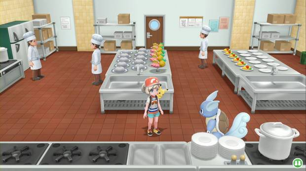 Pokémon Let's Go - SS Anne: cocinas