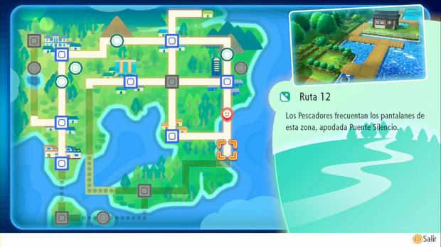 Pokémon Let's Go - Ruta 12: sigue al sur