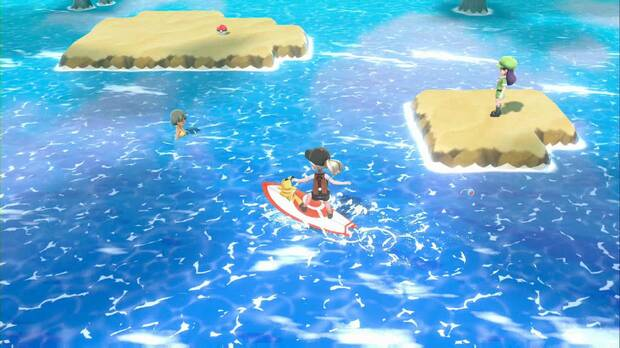 Pokémon Let's Go - Ruta 20: nadadores