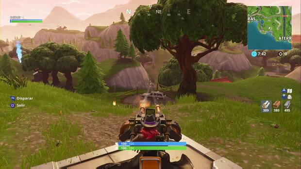 Fortnite Battle Royale - Coloca torretas montadas en diferentes partidas