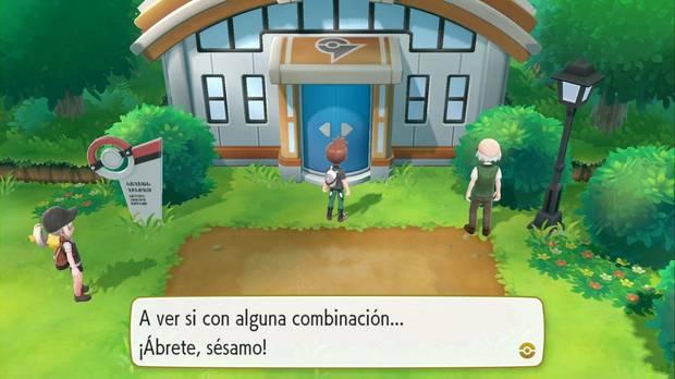 Pokémon Let's Go - Ciudad Verde: entrada al gimnasio