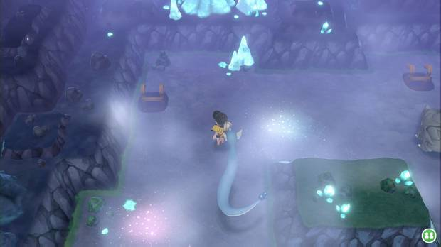 Pokémon Let's Go - Cueva Celeste: escalera al nivel más hondo