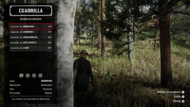 Cuadrillas en Red Dead Online
