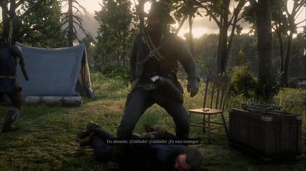 Red Dead Redemption 2 - Una amabilidad inusitada: el colono advierte que es una trampa