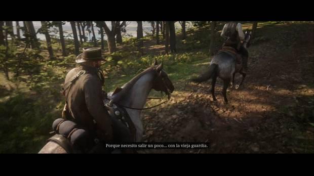 Red Dead Redemption 2 - El nuevo sur: Dutch, Hosea y Arthur cabalgan al arroyo