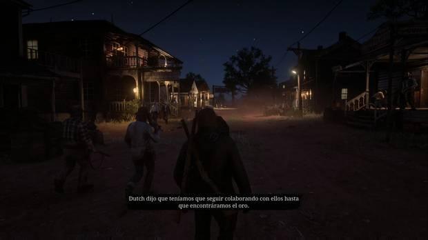 Red Dead Redemption 2 - Breve paseo en una bonita ciudad: Bill habla del plan para conseguir el oro