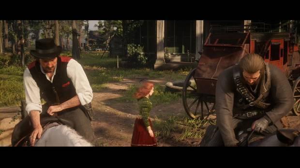 Red Dead Redemption 2 - La batalla de Shady Belle: Arthur y Dutch se dirigen a la ciudad