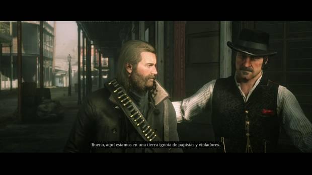 Red Dead Redemption 2 - Los placeres de la civilización: Dutch bromea con Arthur