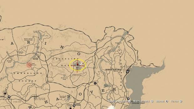 Localización del tesoro de La Banda de Jack Hall - Red Dead Redemption 2