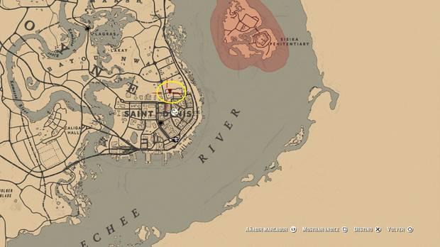 localización del tesoro de Le Trésor des Morts - Red Dead Redemption 2