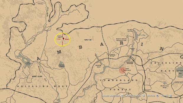 Primer mapa del tesoro del rastro venenoso en Red Dead Redemption 2
