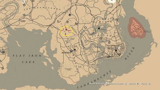 Localización del mapa 2 del tesoro de rastro venenoso