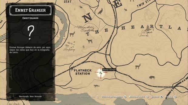 Red Dead Redemption 2 - Pistoleros: localización de Emmet Granger