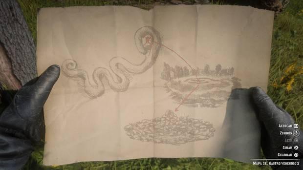 pista del mapa 3 del tesoro del rastro venenoso