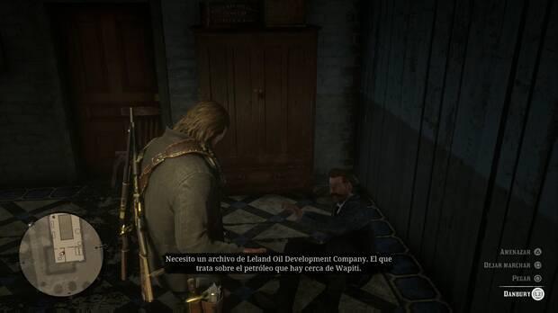 Red Dead Redemption 2 - Padres americanos: Arthur interroga a Danbury