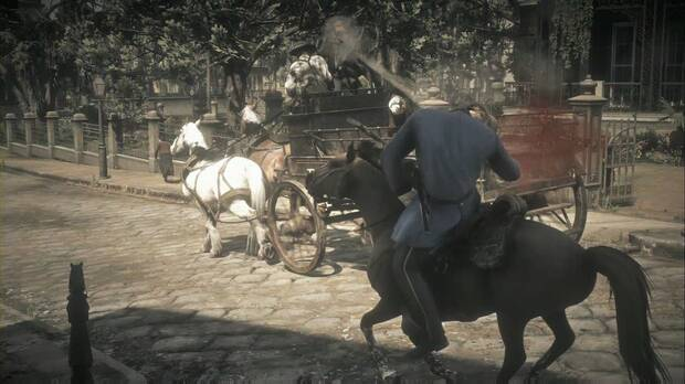 Red Dead Redemption 2 - Placeres urbanos: dispara a tus perseguidores