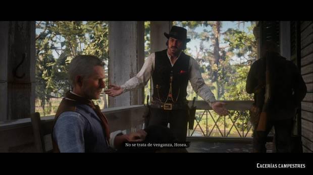 Red Dead Redemption 2 - Cacerías campestres: Dutch y Hosea discuten sobre qué hacer