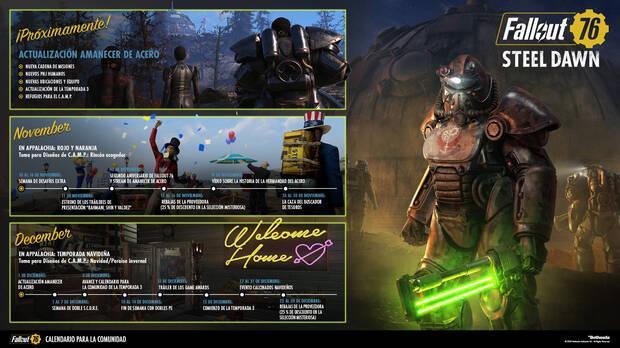 Fallout 76 calendario de actividades noviembre diciembre 2020