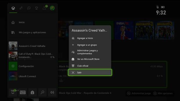 Xbox Series X/S salir de juegos