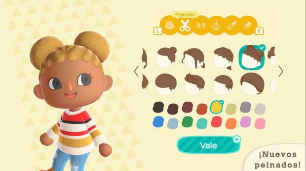 Uno de los nuevos peinados de la nueva actualizaci