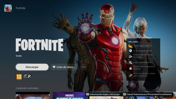 Fortnite PS5 PS Store