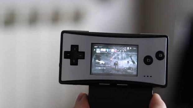 Menu PS5 Demon's Souls en Game Boy Micro