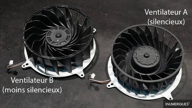 PS5 a ces deux modèles de ventilateurs.