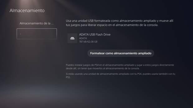 PS5 no permite almacenar sus juegos nativos en discos duros externos Imagen 3
