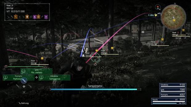 Sistema de batalla táctico Final Fantasy XV