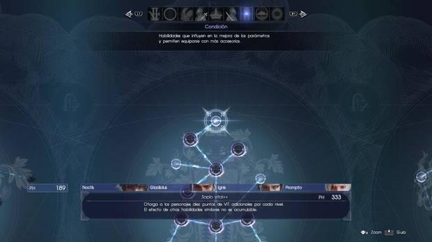 Habilidades en Final Fantasy XV