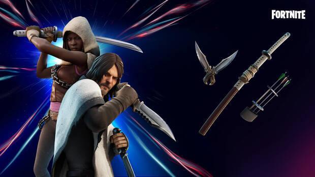Fortnite - Precios y contenidos de las skins de Daryl y Michonne