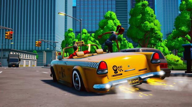 Captura gameplay de Taxi Chaos, sucesor espiritual de Crazy Taxi.