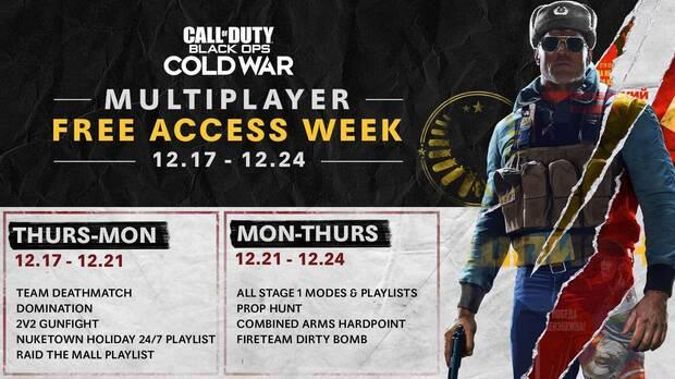 Multijugador de COD: Black Ops Cold War de acceso gratuito