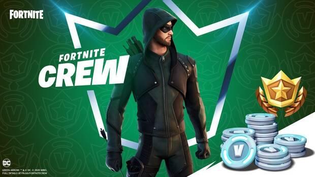 Pack de enero del Club de Fortnite con Green Arrow.