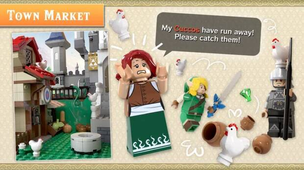 Set de LEGO inspirado en The Legend of Zelda.