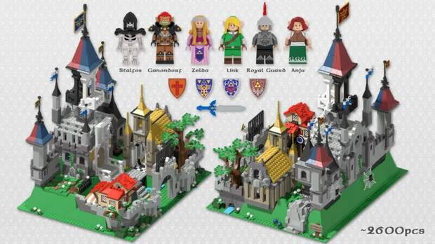 Piezas del set de LEGO de The Legend of Zelda.