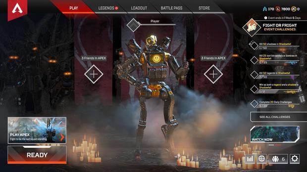 Interfaz de Apex Legends en Game UI Database.