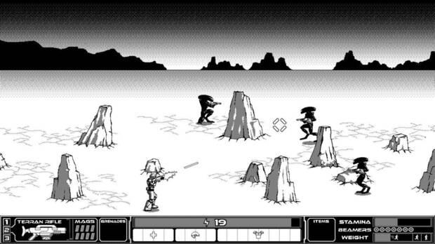 Captura de Rogue Invader en PC.