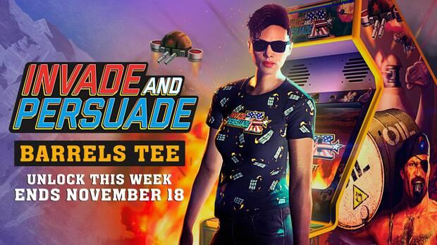 Camiseta Invade and Persuade barriles en GTA Online