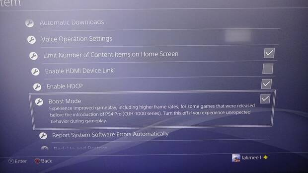 El firmware 4.50 permitirá usar la potencia extra de PS4 Pro en todos los juegos Imagen 2